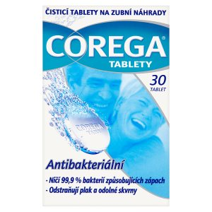 Corega Čistící tablety na zubní náhrady 30 tablet