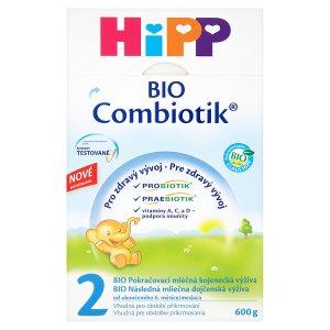 HiPP 2 BIO combiotik pokračovací mléčná od ukončeného 6. měsíce 600g
