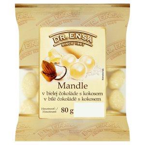 Dr. Ensa Mandle v bílé čokoládě s kokosem 80g