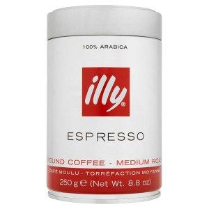illy Espresso středně pražená mletá káva 250g