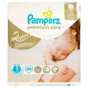 Pampers Premium care Dětské jednorázové plenky 1 Newborn 88 ks