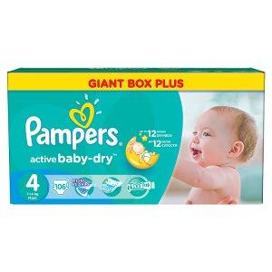 Pampers Active Baby-Dry Dětské jednorázové pleny 4 maxi 106 ks