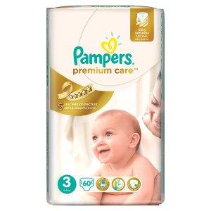 Pampers Premium Care Pleny 3 Midi 60 ks v akci