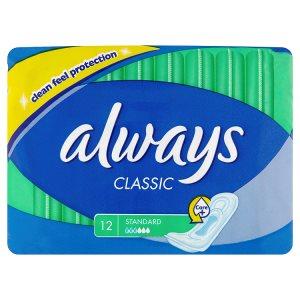 Always Classic Hygienické vložky standard 12 ks