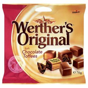Storck Werther's Original Karamely v mléčné čokoládě 70g