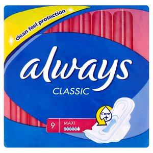 Always Classic Maxi hygienické vložky 9 ks