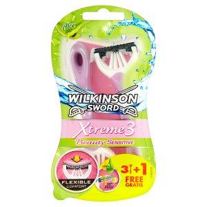 Wilkinson Sword Xtreme3 Beauty Sensitive Aloe jednorázový holící strojek 4 ks