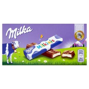Milka Milkinis tyčinky z mléčné čokolády s mléčnou náplní 8 ks 87,5g