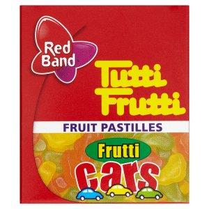 Red Band Tutti Frutti Cars želé s ovocnou příchutí 15g