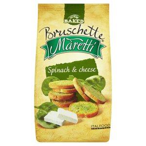 Maretti Bruschetty s příchutí špenátu a sýru - suchary 70g