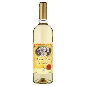 Mona's White bulharské bílé stolní polosladké víno 75cl