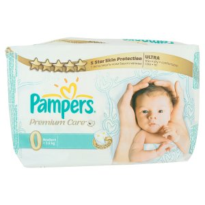 Pampers Premium Care Pleny 0 Newborn 30 ks
