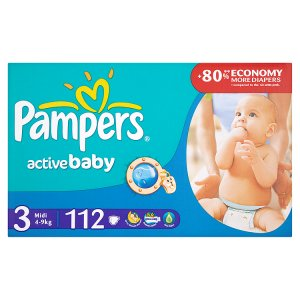 Pampers Active Baby Pleny 3 Midi 112 ks