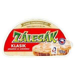 Zálesák smetanový sýr 125g, vybrané druhy