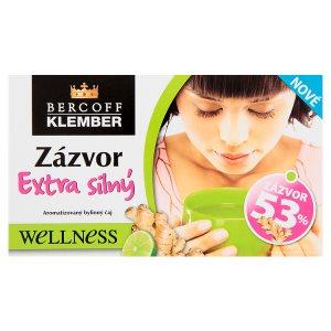 Bercoff Klember Welness Aromatizovaný bylinný čaj zázvor extra silný 20 x 2,0g