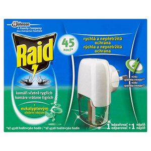 Raid Elektrický odpařovač s tekutou náplní eukalyptus proti komárům 45 nocí 27ml