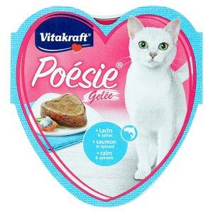 Vitakraft Poésie Gelée + losos & špenát v želé 85g