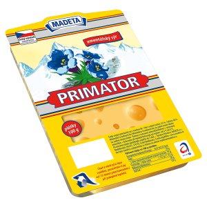 Madeta Primator 45% ementálský sýr plátky 100g