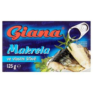 Giana Makrela 125g, vybrané druhy