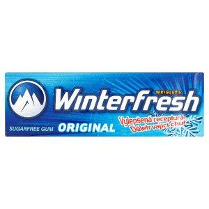 Wrigley's Winterfresh Original žvýkačka bez cukru s mátovou a mentolovou příchutí 14g