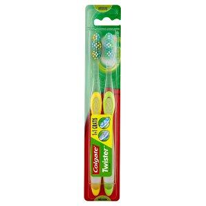 Colgate Twister Střední zubní kartáček 1+1 zdarma
