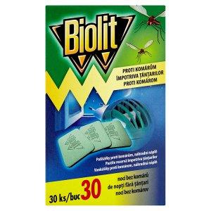 Biolit Proti komárům polštářky do elektrického odpařovače 30 ks