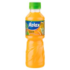 Relax 100% pomeranč 0,3L - 100% pomerančová šťáva