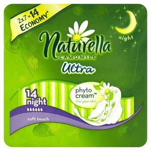 Naturella Camomile Ultra night hygienické vložky s jemnou vůní 14 ks