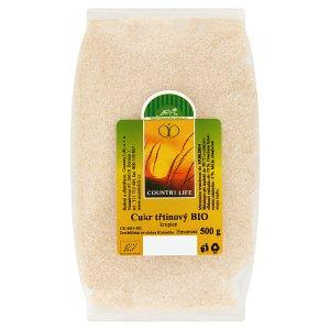 Country Life Bio třtinový cukr přírodní nerafinovaný 500g