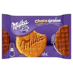 Milka Choco grains sušenky s ovesnými vločkami polomáčené mléčnou čokoládou 42g