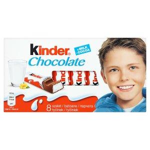 Kinder čokoláda 100g, vybrané druhy