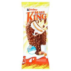 Kinder Maxi King chlazená tyčinka s mléčnokaramelovou náplní v mléčné čokoládě s oříšky 35g v akci