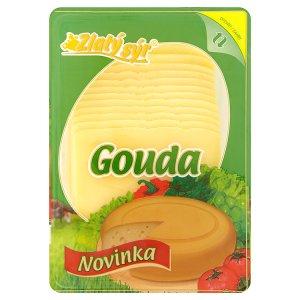 Zlatý Sýr Gouda 48% přírodní polotvrdý sýr plátkovaný 300g