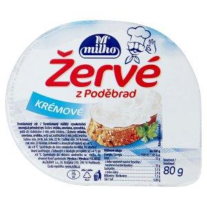 Milko Žervé z Poděbrad 80g, vybrané druhy
