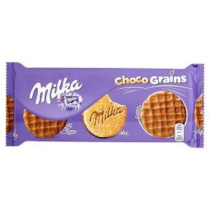 Milka Choco grains sušenky s ovesnými vločkami polomáčené v mléčné čokoládě 126g