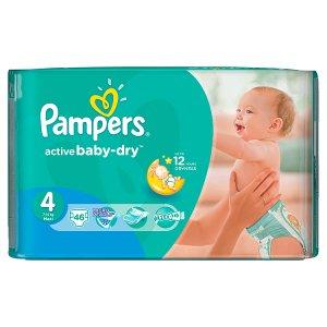 Pampers Active Baby Pleny 4 Maxi 46 ks v akci