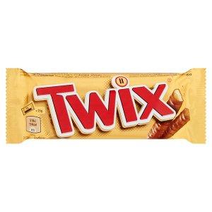 Twix Tyčinky se sušenkou a karamelem máčené v mléčné čokoládě 2 x 25g