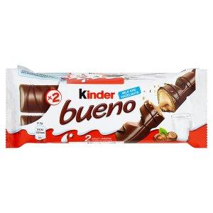 Kinder Bueno Oplatka s polevou z mléčné čokolády a s mléčnou a lískooříškovou náplní 3 x 43g