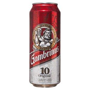 Gambrinus Originál 10 pivo výčepní světlé 0,5l plech