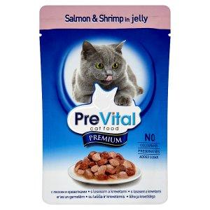 PreVital Premium Kompletní krmivo pro dospělé kočky s lososem a krevetami 100g