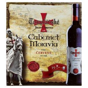 Templářské Sklepy Čejkovice Cabernet moravia víno červené suché 3l
