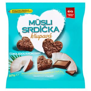 Semix Müsli srdíčka křupavá s čokoládou a kokosem 50g