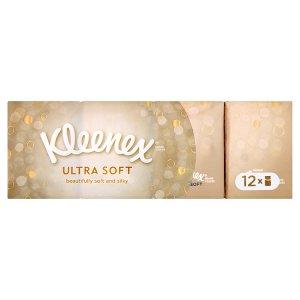 Kleenex Ultra Soft papírové kapesníky 12 x 7 ks