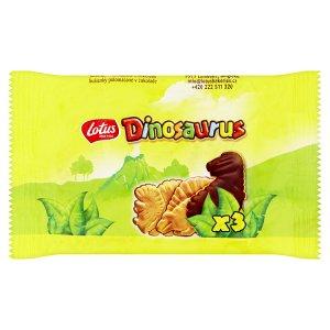 Lotus Dinosaurus Sušenky polomáčené v čokoládě 56g