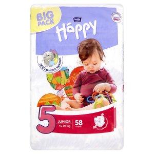 "Happy Junior Dětské plenky ""5"" á 58 ks"