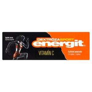 Energit Dextróza Sport Doplněk stravy Vitamín C s příchutí pomeranče 14 tablet 49g