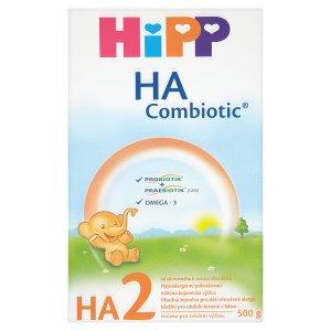 HiPP HA2 combiotik hypoalergenní pokračovací mléčná 500g