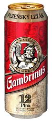 Gambrinus plná 12 (plech) 0,5 l v akci