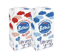 Boni mléko trvanlivé polotučné 1l v akci
