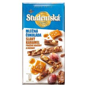 ORION STUDENTSKÁ PEČEŤ ZLATÁ EDICE mléčná čokoláda se slaným karamelem 170g
